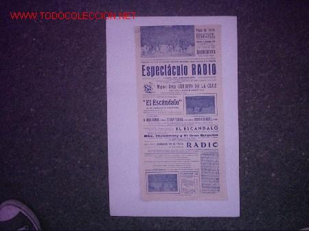 PLAZA DE TOROS BENAGUACIL (VALENCIA) (ESPECTACULO RADIO ) (Coleccionismo - Carteles Gran Formato - Carteles Circo, Magia y Espectáculos)