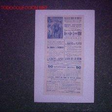 Carteles Espectáculos: PLAZA DE TOROS MURCIA 1959 (ESPECTACULO LLAPISERA). Lote 26654191
