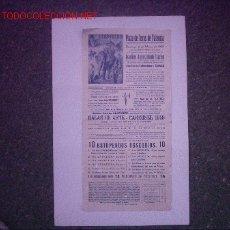 Carteles Espectáculos: LLAPISERA PLAZA DE TOROS VALENCIA. Lote 27415327