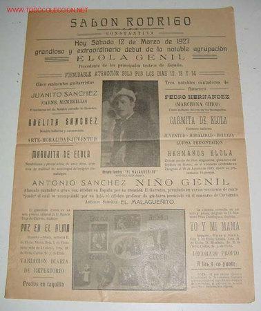 Antiguo cartel de espectaculo de variedades m comprar for Espectaculo de variedades