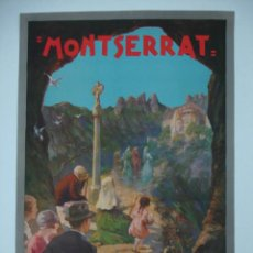 Carteles Espectáculos: MONTSERRAT. 1031 - 1881 - 1931. FESTES JUBILARS. 50 X 35 CM. . Lote 12410620