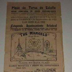 Carteles Espectáculos: ANTIGUO CARTEL DE CIRCO - GRAN COMPAÑIA DE CIRCO HISPANO SUIZA, PLAZA DE TOROS DE ESTELLA (NAVARRA) . Lote 27613866