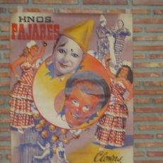 Carteles Espectáculos: HERMANOS PAJARES. Lote 26935904