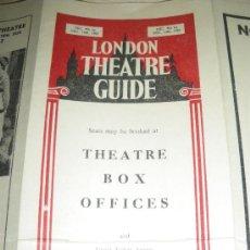 Carteles Espectáculos: LONDON THEATRE GUIDE. DICIENBRE DE 1957. SANDY WILSON, AGATHA CHRISTIE.. Lote 27270565