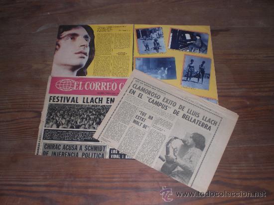 Carteles Espectáculos: GRAN POSTER CARTEL EN COLOR DE LLUÍS LLACH. DE LA REVISTA POPSTER. AÑO 1976. - Foto 2 - 25689365