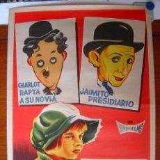 Carteles Espectáculos: CHIQUILIN ARTISTA DE CIRCO.- CHARLOT RAPTA A SU NOVIA.- JAIMITO PRESIDIARIO - AÑO 1964, LITOGRAFIA. Lote 27304032