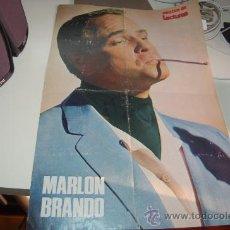 Carteles Espectáculos: MARLON BRANDO. PÓSTER DE MEDIADOS DE LOS AÑOS 70. Lote 26809358