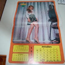 Carteles Espectáculos: PILAR PARDO: PÓSTER-CALENDARIO DE 1975. Lote 26535176