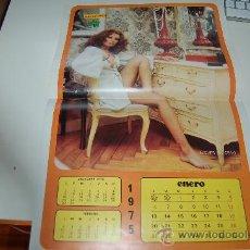 Carteles Espectáculos: NIEVES SALCEDO: PÓSTER-CALENDARIO DE 1975. Lote 26535175