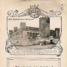 Carteles Espectáculos: * ZAFRA, BADAJOZ * PALACIO DEL DUQUE DE FERIA - 1911. Lote 20865978