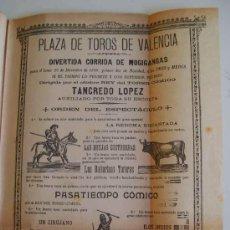 Carteles Espectáculos: CARTEL PLAZA DE TOROS DE VALENCIA - DICIEMBRE 1899 - DIVERTIDA CORRIDA DE MOGIGANGAS. Lote 17710815