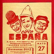 Carteles Espectáculos: CARTEL CIRCO, PEQUEÑO , CIRCO ESPAÑA EN OVIEDO , CR36. Lote 27149910