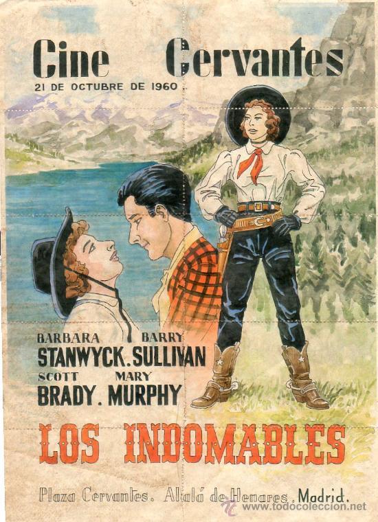 Los Indomables Tomado De: Cartel De Cine Cervantes Los Indomables 29,50