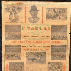 Carteles Espectáculos: CARTEL ANTIGUO DE F. VARGAS. ESPECTACULO COMICO MUSICAL. AÑOS 50S. GORDO Y FLACO, LA BULLABESA.... Lote 25763529