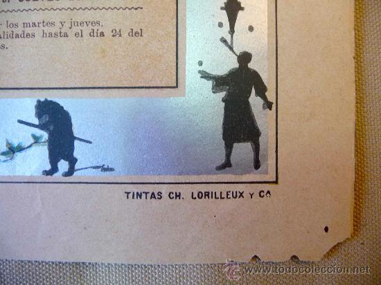 Carteles Espectáculos: RARO Y UNICO CARTEL, POSTER, TEATRO CIRCO APOLO, 1902, LITOGRAFIA ORTEGA, VALENCIA, CIRCO - Foto 8 - 22821568
