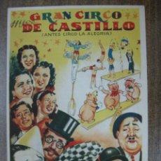 Carteles Espectáculos: GRAN CIRCO HIJOS DE CASTILLO, ANTES CIRCO LA ALEGRIA - AÑOS 1960. Lote 46640402