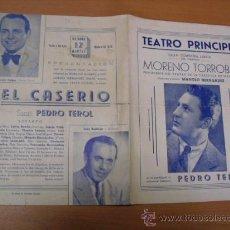 Carteles Espectáculos: CARTEL TEATRO PRINCIPAL AÑOS 40. Lote 25312814