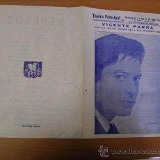 Carteles Espectáculos: CARTEL TEATRO PRINCIPAL 1963 ALICANTE. Lote 25313221