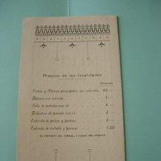 Carteles Espectáculos: CARTEL TEATRO CERVANTES OPERA ITALIANA RICARDO VILLA Y FRANCISCO VIÑAS 1906. Lote 25948681