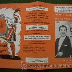 Affissi Spettacoli: TEATRO CERVANTES 1967 , JUANITO VALDERRAMA Y DOLORES ABRIL , ACUÑA , MARAVILLAS , FAICO , KELO. Lote 26839857