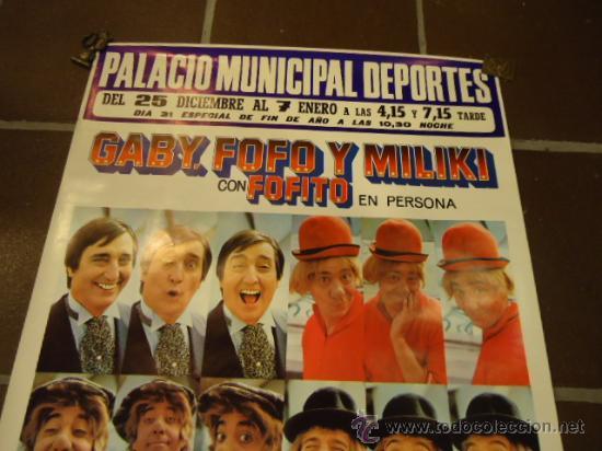 Carteles Espectáculos: CARTEL CIRCO PAYASOS DE LA TELE GABY FOFO MILIKI FOFITO año 1975 - Foto 3 - 190833488