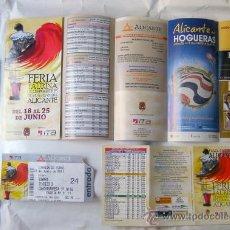 Carteles Espectáculos: ALICANTE, LOTE FERIA TAURINA DE LES FOGUERES DE SANT JOAN 2011, VER DESGLOSE Y FOTOS ADICONALES. Lote 27754936