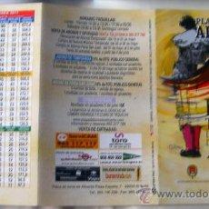 Carteles Espectáculos: ALICANTE, TRIPTICO PROGRAMA Y PRECIOS DE LA FERIA TAURINA DE LES FOGUERES DE SANT JOAN 2011. Lote 27755092