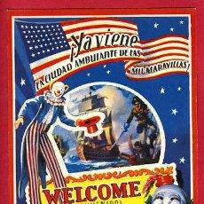Carteles Espectáculos: PROGRAMA CIRCO, TROQUELADO, CIRCO AMERICANO 1957 ,ORIGINAL. Lote 109523222