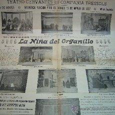 Carteles Espectáculos: CARTEL TEATRO CERVANTES DE MALAGA COMPAÑIA TRESSOLS AÑO 1907. Lote 29531405