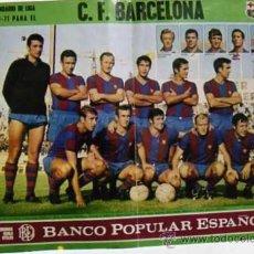 Plakate Schauspiele - Cartel original. Calendario liga 1970. 71. Futbol Club Barcelona. Banco popular español. Actualidad. - 29679738