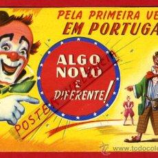 Carteles Espectáculos: CARTEL , PROGRAMA CIRCO PARIS EN PORTUGAL , DIPTICO , ANTIGUO , ORIGINAL. Lote 31402799