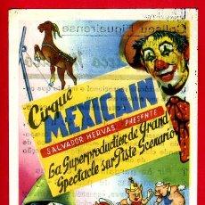Carteles Espectáculos: CARTEL CIRCO , MEXICAN , FIGUERAS GERONA , ORIGINAL ,C66. Lote 120903288