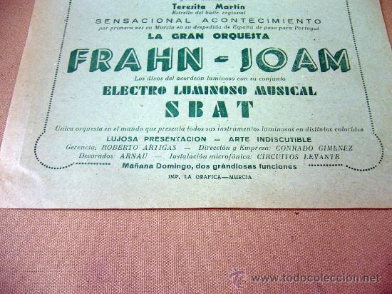 Carteles Espectáculos: PROGRAMA DE TEATRO, CARTEL, TEATRO ROMEA, 1950, CARMEN VELEZ, ORQUESTA FRAHN-JOAM - Foto 3 - 32095202