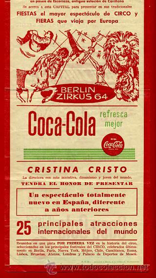 Carteles Espectáculos: CARTEL CARTELITO PUBLICIDAD , CIRCO BERLIN ZIRKUS , ORIGINAL, FM147 - Foto 2 - 32584077