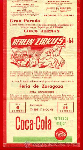 Carteles Espectáculos: CARTEL CARTELITO PUBLICIDAD , CIRCO BERLIN ZIRKUS , ORIGINAL, FM147 - Foto 4 - 32584077