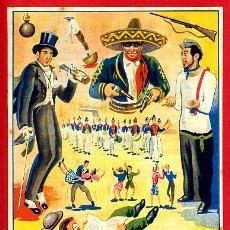 Carteles Espectáculos: CARTEL CARTELITO PUBLICIDAD , CIRCO CARRUSEL 1947 ALCOY , ORIGINAL, FM151. Lote 32584184