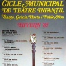 Carteles Espectáculos: CARTEL CICLE MUNICIPAL TEATRE INFANTIL.1984.COLOM.44X63. Lote 33254771