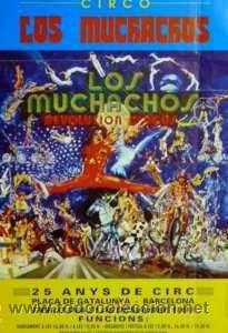 CARTEL CIRCO LOS MUCHACHOS. 1991. BARCELONA. 33X48CM. (Coleccionismo - Carteles Gran Formato - Carteles Circo, Magia y Espectáculos)