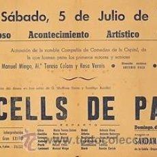 Carteles Espectáculos: CARTEL OLESA DE MONTSERRAT.OCELLS DE PAS. 1947. 44 X 32. Lote 33292431