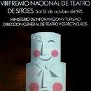 Carteles Espectáculos: CARTEL VIII PREMIO NACIONAL TEATRO SITGES.1974.48X69 CM. Lote 33292979