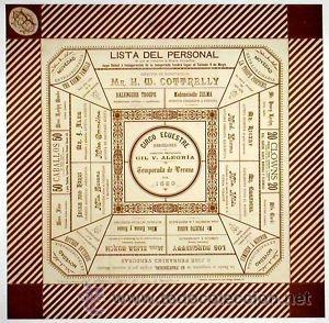 CARTEL CIRCO ECUESTRE.1889. BARCELONA 43 X 43 CM. (Coleccionismo - Carteles Gran Formato - Carteles Circo, Magia y Espectáculos)
