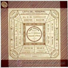 Carteles Espectáculos: CARTEL CIRCO ECUESTRE.1889. BARCELONA 43 X 43 CM.. Lote 33318756