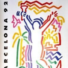 Carteles Espectáculos: CARTEL BARCELONA 92. ENRIC SATUÉ.1990. 67 X 47 CM. Lote 33403194