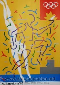 CARTEL BARCELONA 92. SAURA/TORRENTE . 1990. 50X70 CM. (Coleccionismo - Carteles Gran Formato - Carteles Circo, Magia y Espectáculos)