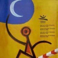 Carteles Espectáculos: CARTEL JJOO JOCS XXVA OLIMPÍADA BARCELONA 1992. PERET. Lote 33403616