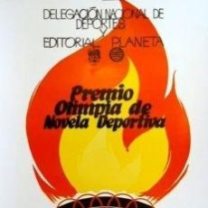 Carteles Espectáculos: CARTEL PREMIO OLIMPIA NOVELA DEPORTIVA.1970.FARIÑAS. Lote 33419633