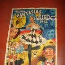 Carteles Espectáculos: ANTIGUO CARTEL FANTASIAS EN EL RUEDO ALMADEN .40 ARTISTAS NACIONALES Y EXTRANJEROS DEL AÑO 1953. Lote 33474258