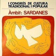 Carteles Espectáculos: CARTEL SANT CELONI 1982. AMBIT: SARDANES. SANT CELONI. 1982. CATALUNYA. 32X44. Lote 33498688
