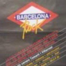 Carteles Espectáculos: CARTEL BARCELONA ROCK.1984. ESCLUSA, MANEL. 40 X 90 CM.. Lote 162985200
