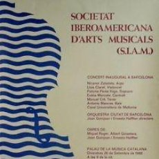 Carteles Espectáculos: CARTEL SOCIETAT IBEROAME. ARTS MUSICALS 80.MONTSALVATGE. Lote 33499144